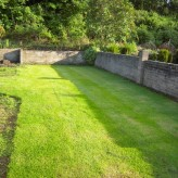 Turfing a Lawn With A Range of Grass Varieties