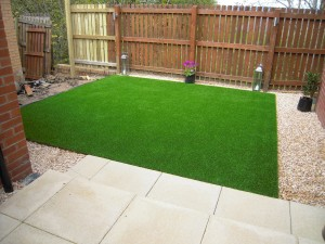 Artificial turf can avoid the problem of grass for shade altogether