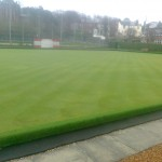 This is a very good example of how to prepare a green for play in the Spring. This was in the last week of March this year in Uddingston