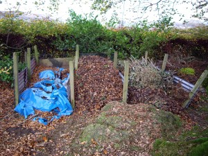 An example of a home made compost heap.