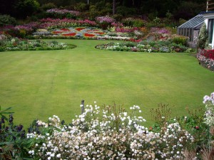 A good example of a well mown lawn complementing lovely surrounds.