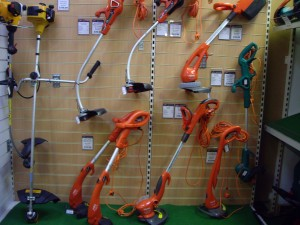 Just a small selection of strimmers on the market